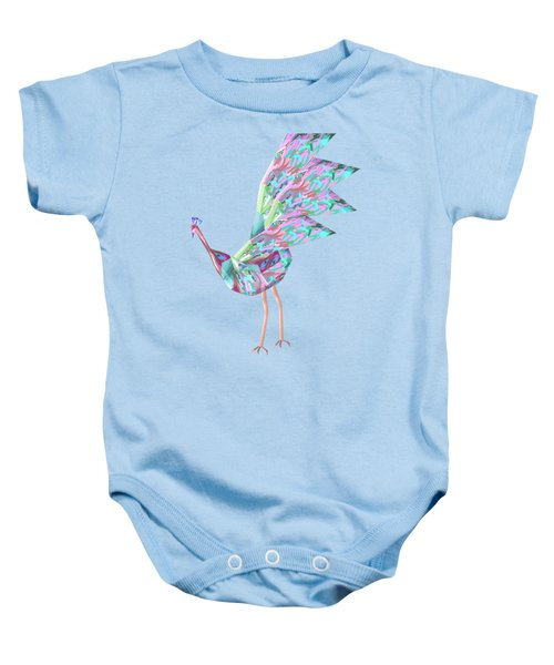 Peacock Dance A Baby Onesie by Thecla Correya