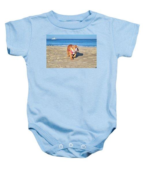 Peanut On The Beach Baby Onesie