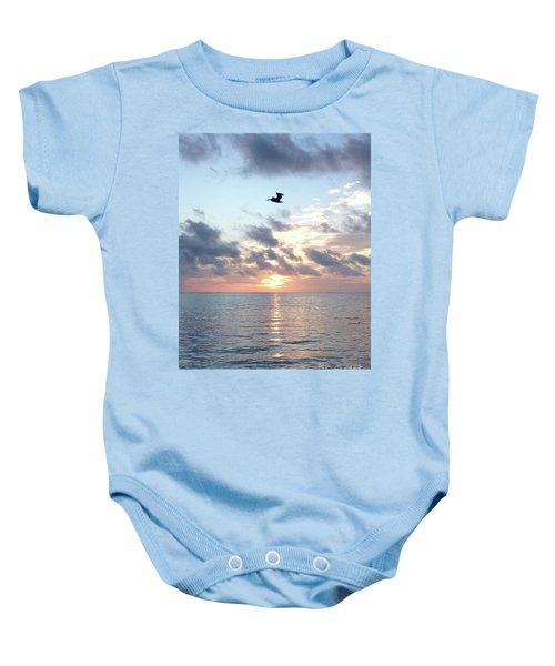 Pelican Dawn Baby Onesie