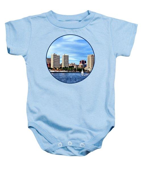 Philadelphia Pa Skyline Baby Onesie by Susan Savad