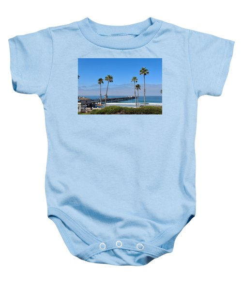 Pier And Palms Baby Onesie