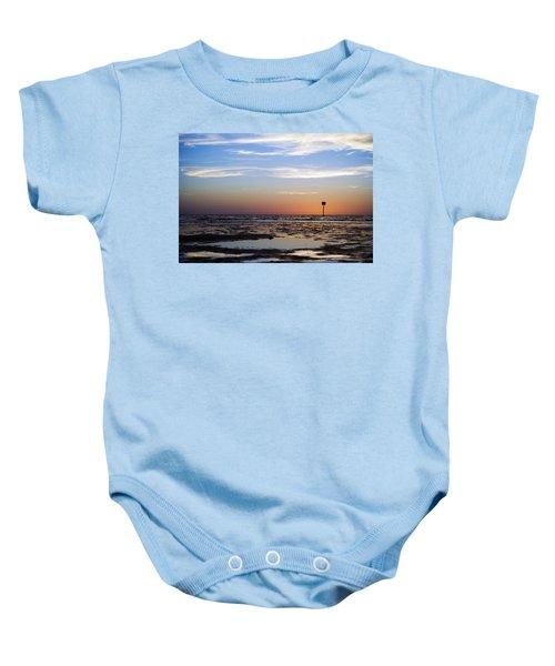 Pine Island Sunset Baby Onesie