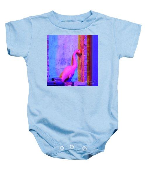 Pink Flamingo Baby Onesie
