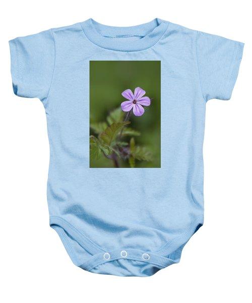 Pink Phlox Wildflower Baby Onesie
