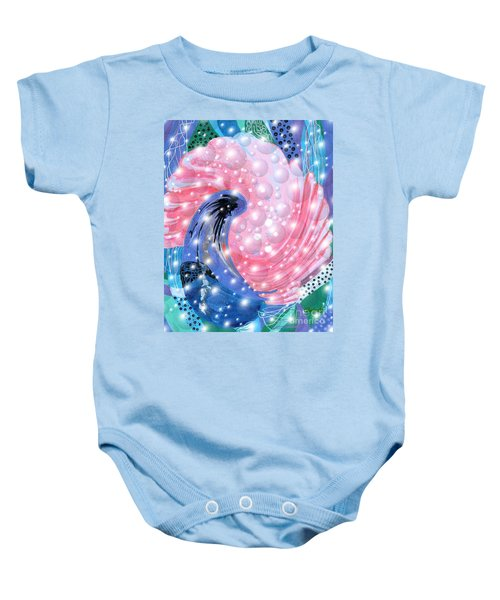 Pink Shell Fantasia Baby Onesie