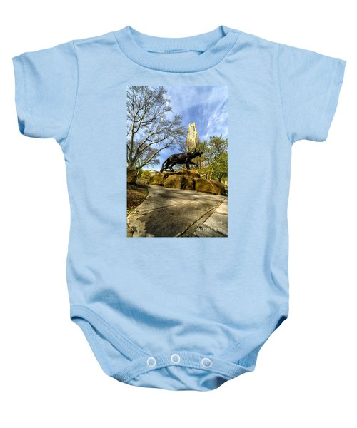 Pitt Panther Cathedral Of Learning Baby Onesie