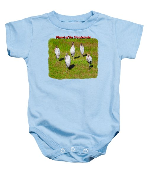 Planet Of The Woodstorks 2 Baby Onesie