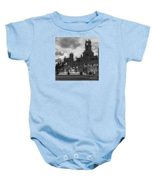 Plaza De Cibeles Fountain Madrid Spain Baby Onesie