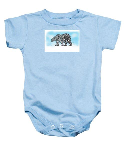 Polar Bear Doodle Baby Onesie