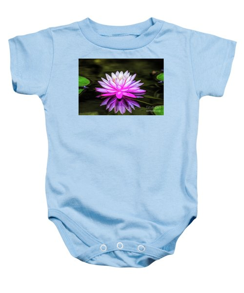 Pond Water Lily Baby Onesie