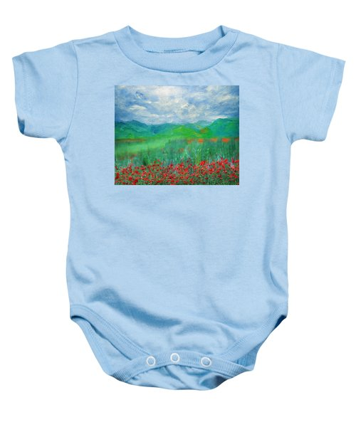 Poppy Meadows Baby Onesie
