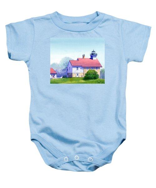 Port Washington Lighthouse Baby Onesie