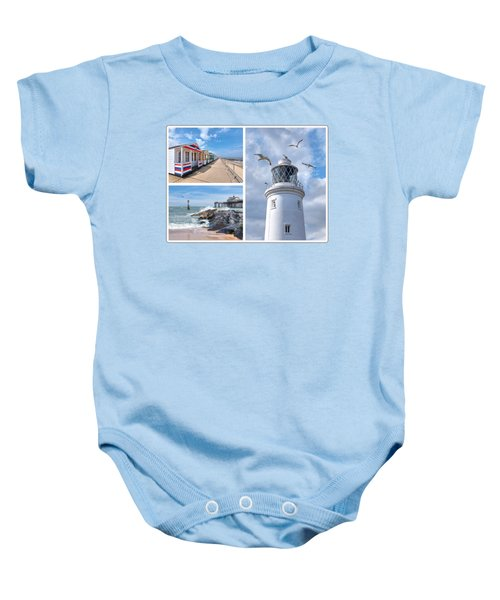 Postcard From Southwold Baby Onesie
