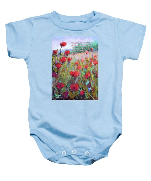 Praising Poppies With Bible Verse Baby Onesie