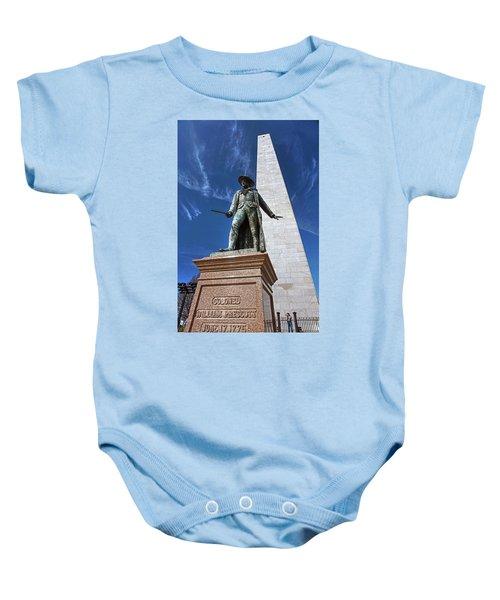 Prescott Statue On Bunker Hill Baby Onesie