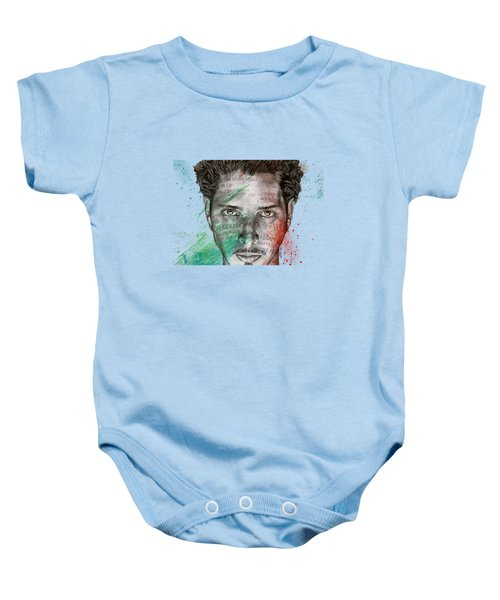 Pretty Noose - Tribute To  Chris Cornell Baby Onesie by Marco Paludet