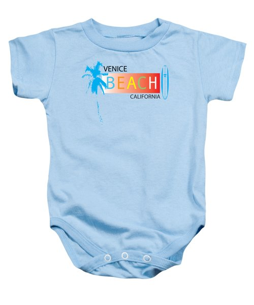 Venice Beach California T-shirts And More Baby Onesie by K D Graves
