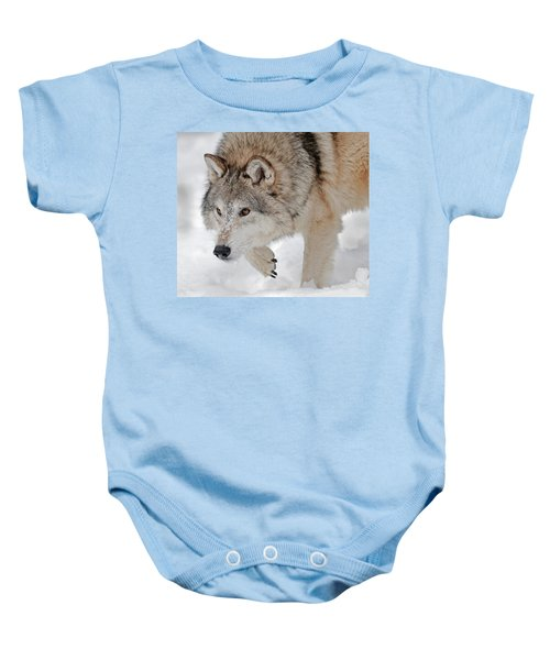 Prowling Wolf Baby Onesie
