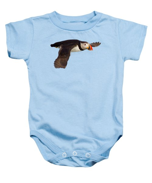Puffin In Flight T-shirt Baby Onesie