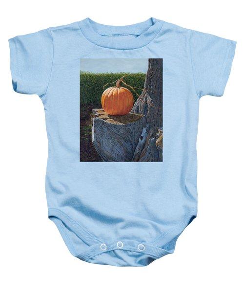 Pumpkin On A Dead Willow Baby Onesie