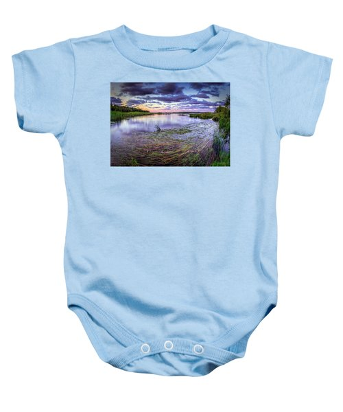 Purple Bay Baby Onesie