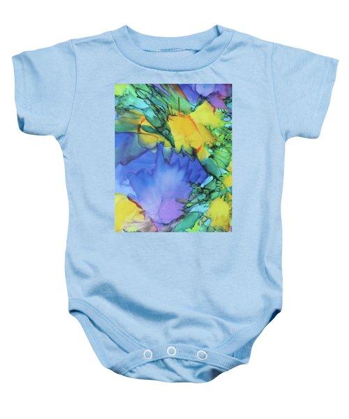 Purple Bird Of Paradise Baby Onesie