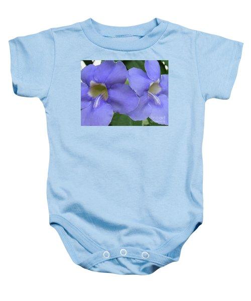 Purple Flower Picture Perfect Baby Onesie