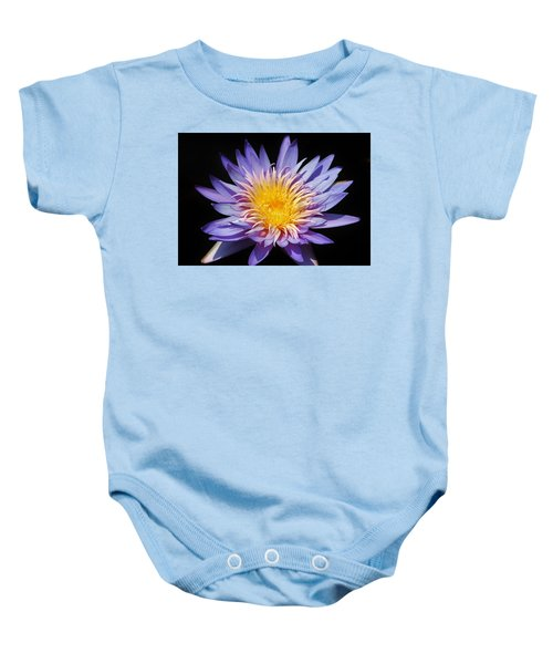 Purple Lotus Baby Onesie