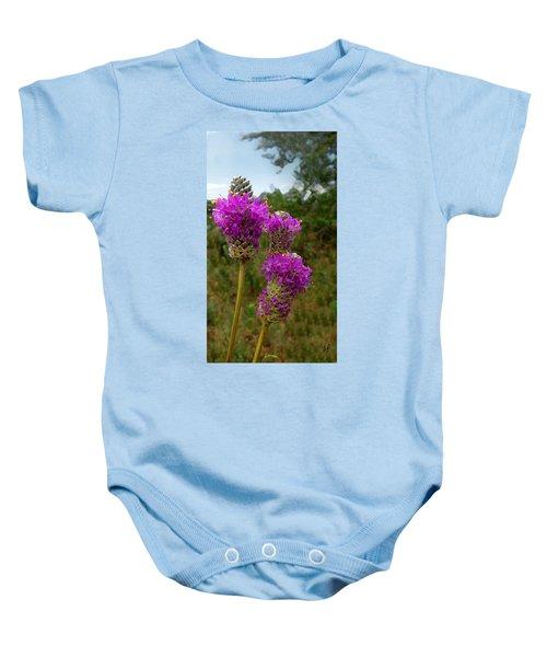 Purple Prairie Clover Baby Onesie