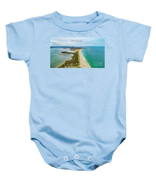 Quonochontaug Beach Baby Onesie