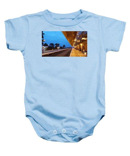 Railway Vanishing Point Baby Onesie