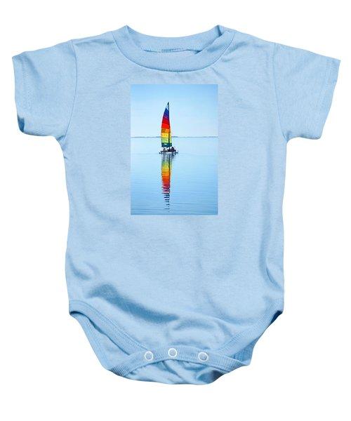Rainbow Catamaran Baby Onesie