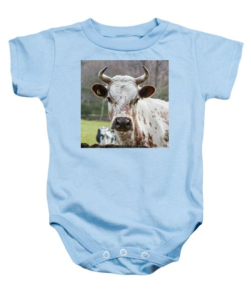 Baby Onesie featuring the photograph Randall Cow by Bill Wakeley