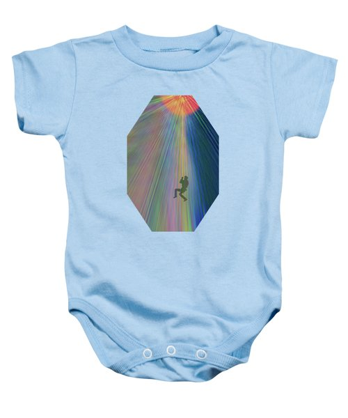 Reach Out And Touch Confidence Baby Onesie by AugenWerk Susann Serfezi