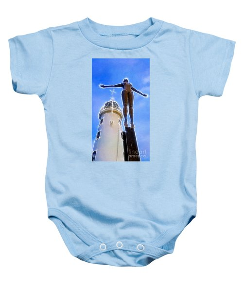 Reaching For Gold Baby Onesie