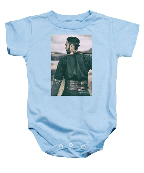 Rear View Of Warrior Baby Onesie