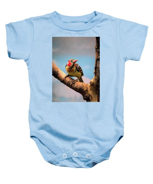 Red And Yellow Barbet Baby Onesie