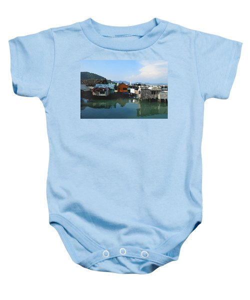 Red House On The Water Baby Onesie