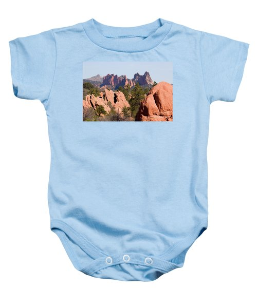 Red Rock Canyon Open Space Park And Garden Of The Gods Baby Onesie
