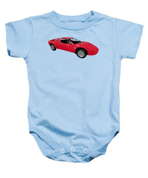 Red Sport Car Art Baby Onesie