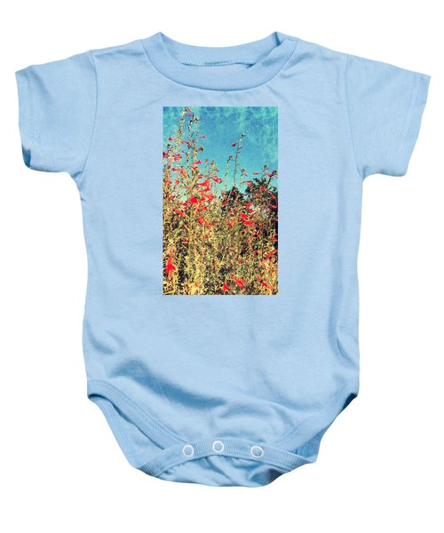 Red Trumpets Playing Baby Onesie