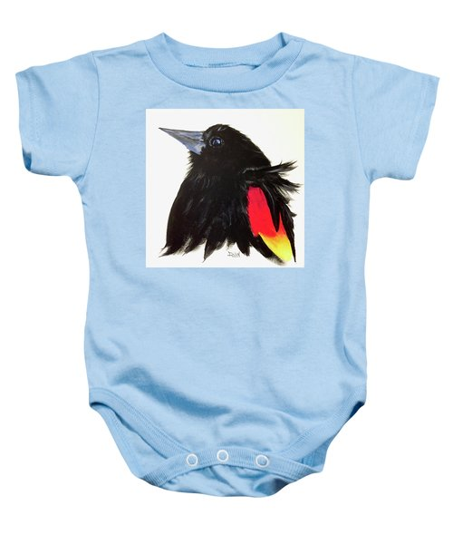 Red Winged Blackbird Baby Onesie
