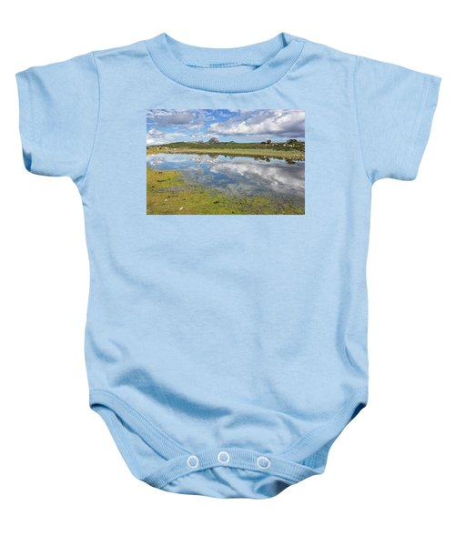 Reflected Mountains Baby Onesie
