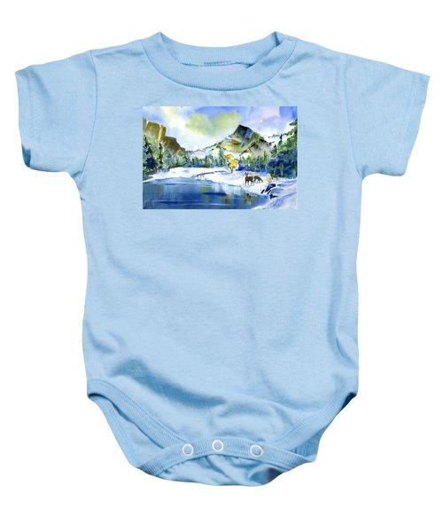 Reflecting Yosemite Baby Onesie