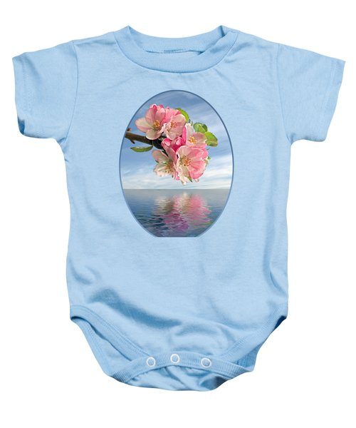 Reflections Of Spring At Apple Blossom Time Baby Onesie