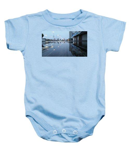 Reflections Of The Boardwalk Baby Onesie