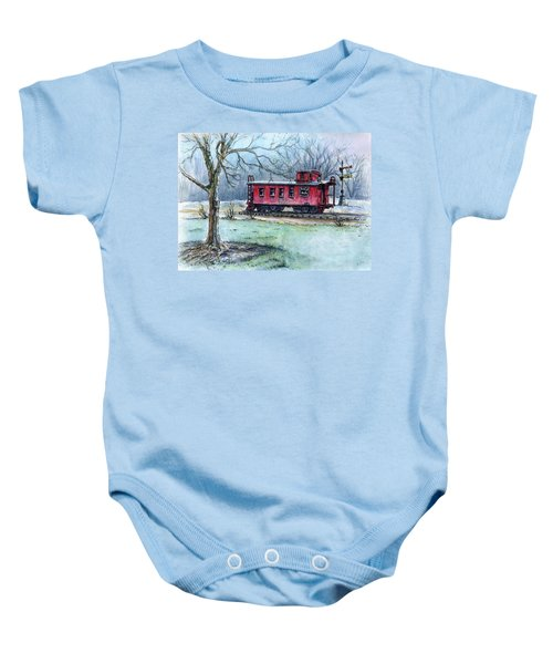 Retired Red Caboose Baby Onesie