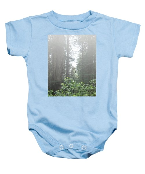 Rhododendrons In The Fog Baby Onesie