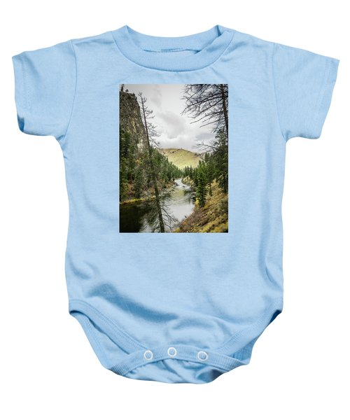 River In The Canyon Baby Onesie