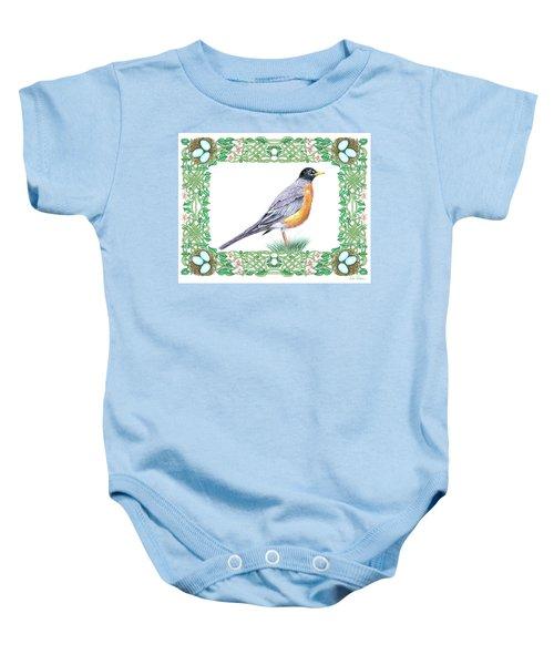 Robin In Spring Baby Onesie